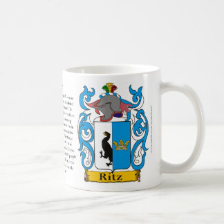Ritz, the Origin, the Meaning and the Crest Coffee Mug