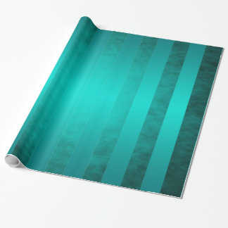 Ritzy Striped Teal Holiday Wrapping Paper