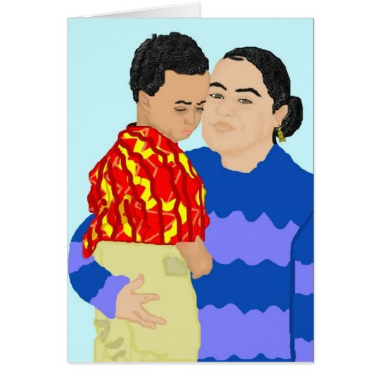 Riva and Son Greeting Card (Happy Holidays)
