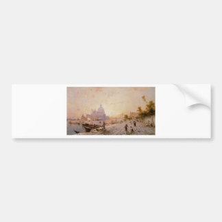 Riva degli Schiavoni, Venice by Franz Richard Bumper Sticker