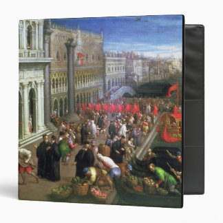 Riva degli Schiavoni, Venice (oil on canvas) (deta 3 Ring Binder