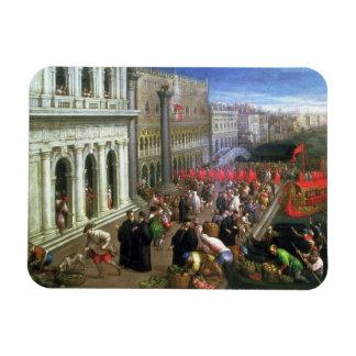 Riva degli Schiavoni, Venice (oil on canvas) (deta Magnet