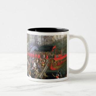 Riva degli Schiavoni, Venice (oil on canvas) (deta Two-Tone Coffee Mug