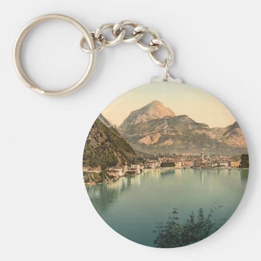 Riva del Garda I, Trentino-Alto el Adigio, Italia Llavero Redondo Tipo Pin