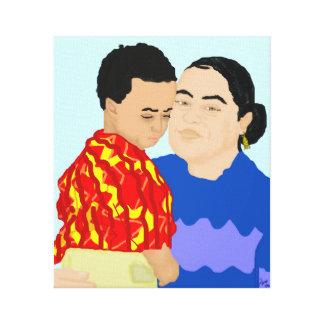 Riva e hijo impresión en lona estirada