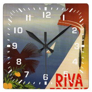 Riva Torbole, Lago di Garda Square Wall Clock