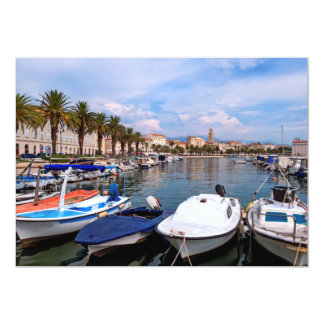 Riva waterfront, Split, Croatia Card