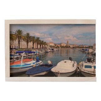 Riva waterfront, Split, Croatia Wooden Keepsake Box