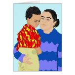 Riva y tarjeta de felicitación del hijo (buenas fi