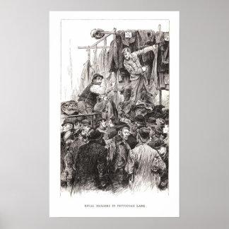Rival Dealers In Petticoat Lane Poster