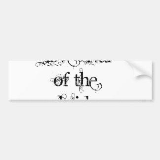 Rival del amor de la novia pegatina de parachoque