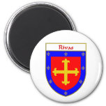 Rivas Coat of Arms/Family Crest 2 Inch Round Magnet