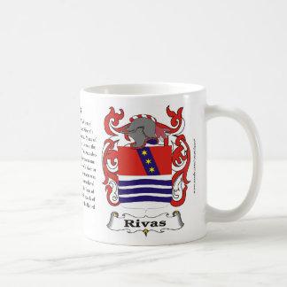 Rivas Family Coat of Arms Mug
