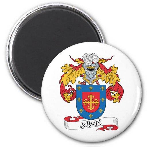 Rivas Family Crest 2 Inch Round Magnet