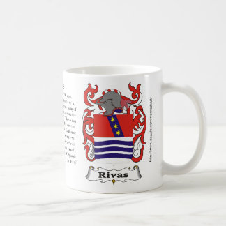 Rivas, the origin, meaning and the crest coffee mug