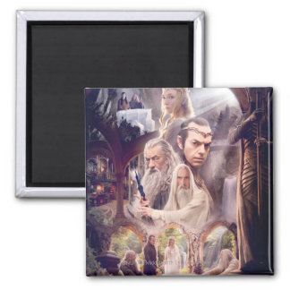 Rivendell Character Collage 2 Inch Square Magnet