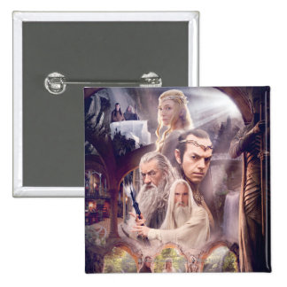 Rivendell Character Collage Button