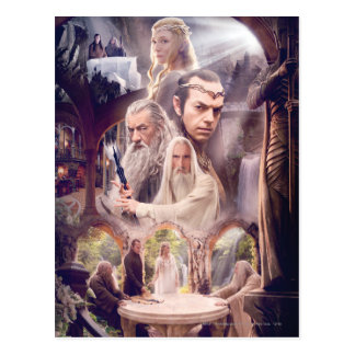 Rivendell Character Collage Postcard