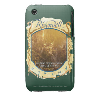 Rivendell Graphic iPhone 3 Case-Mate Case