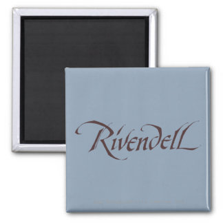 Rivendell Name Solid 2 Inch Square Magnet