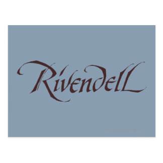 Rivendell Name Solid Postcard