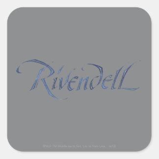 Rivendell Name Textured Square Sticker