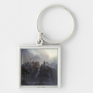 Rivendell Silver-Colored Square Keychain