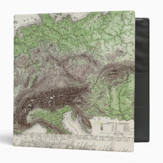 River and Mountain Map of Germany 3 Ring Binder
