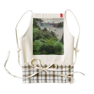 River and path next to it zazzle HEART apron