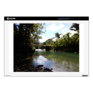 """River and Rainforest 17"""" Laptop Decal"""
