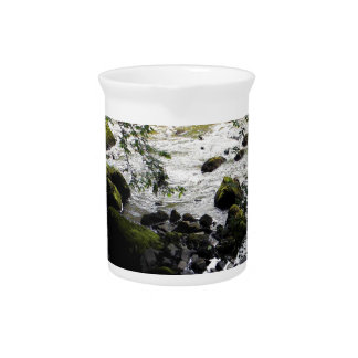 River and rocks Peace Photo Drink Pitchers