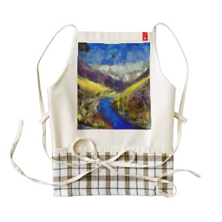 River as part of beautiful valley zazzle HEART apron