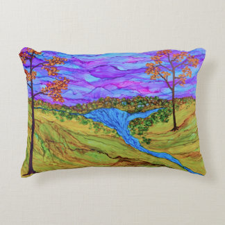 River at Dusk Accent Pillow