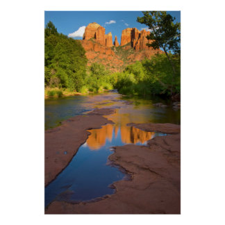 River at Red Rock Crossing, Arizona Poster