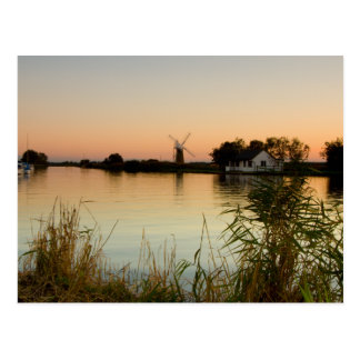 """River at sunset"" postcards"