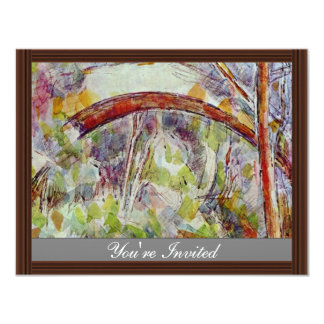 River At The Bridge Of The Three Sources 4.25x5.5 Paper Invitation Card