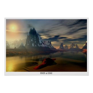 River at the Edge of World Print