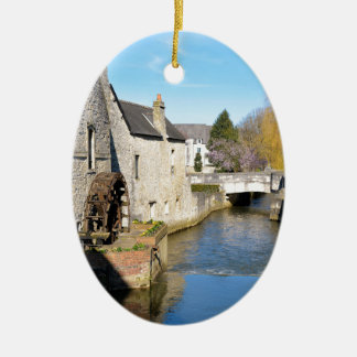 River Aure at Bayeux in France Ceramic Ornament