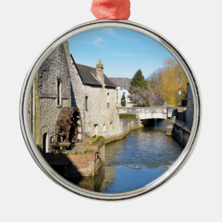 River Aure at Bayeux in France Metal Ornament
