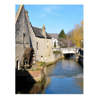 River Aure at Bayeux in France Postcard