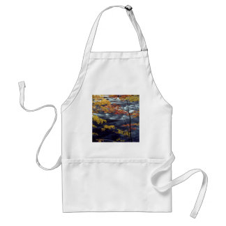 River Autumn Colors A Rushing Adult Apron