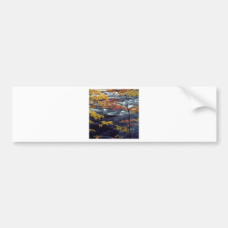 River Autumn Colors A Rushing Bumper Sticker