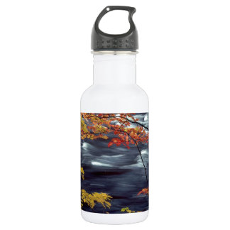 River Autumn Colors A Rushing Stainless Steel Water Bottle