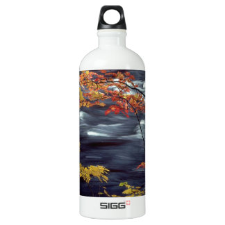 River Autumn Colors A Rushing Water Bottle