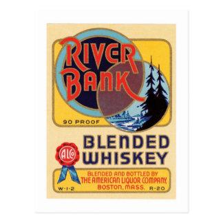 River Bank Blended Whiskey Postcard