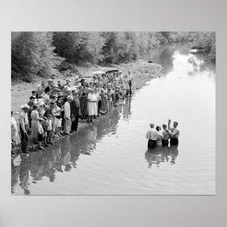 River Baptism, 1940 Poster