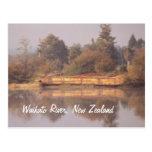 River Barge Postcard