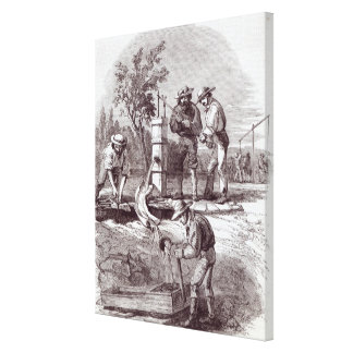 River-bed claim on the Turon Canvas Print