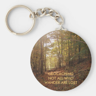River Bend 2, GEOCACHINGNOT ALL WHO WANDER ARE ... Basic Round Button Keychain
