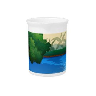 River Beverage Pitcher